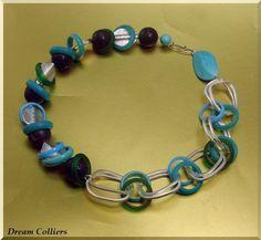 sommerfrische - Materialmixcollier von Dream-Colliers auf DaWanda.com