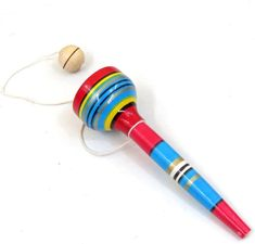 Leos Imports Mexican Trompo Pirinola Spinning Top with Shoelace