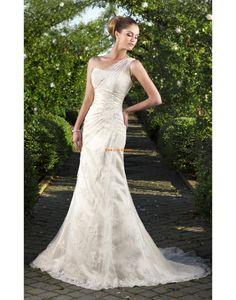 Hof-Schleppe Sommer Reißverschluss Brautkleider 2014