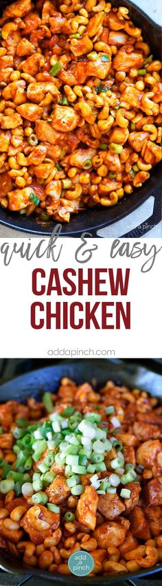 Cashew Chicken Recipe - This Cashew Chicken recipe makes a favorite quick and easy recipe perfect for busy weeknights! Ready and on the table faster than takeout! // addapinch.com