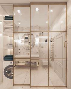 ДИЗАЙН ИНТЕРЬЕРА СПБ в Instagram: «Как можно использовать плитку под мрамор в интерьере ванных комнат ? ⠀ Для любителей мрамора и тех, кто хочет узнать о дизайне чуть больше.…» Divider, Room, Closet, Furniture, Home Decor, Environment, Houses, Bedroom, Armoire