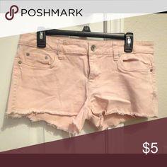 Refuge Light Pink Shorts Refuge Light Pink Shorts Shorts Jean Shorts