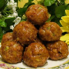 Glazed Ham Balls Recipe - How to make ham balls  recipe