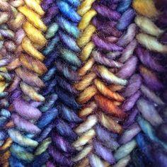 North Sea Kippers Herringbone Fingerless Gloves by Kat Goldin | malabrigo mecha in Candombe