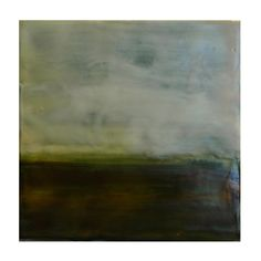 Encaustic Landscape Number 11  6x6  kabworks.com