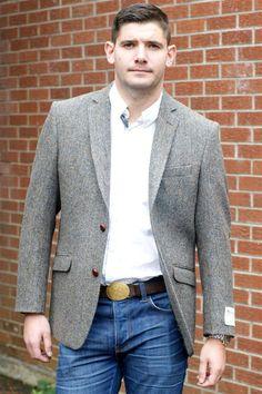 e5db0732 Harris Tweed mens wool jacket herringbone pattern AR9-63