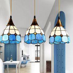Probbe Tiffany Dome-Shaped 3-Light Pendant - Pendant Lights - Ceiling Lights - Lighting