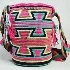 Подлинные Большие WAYUU маленькая сумка 100% колумбийский, богемный Hobo лучших ручной работы 1201