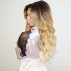 "Blonde Hair, Don't Care <3 our #bellamibella @arikasato looks dreamy in her @guy_tang #BELLAMIBalayage in color #8/#60 #BELLAMIAshBrownAshBlonde, use code ""arika"" to save $$$ at checkout <3 #bellamihair #bellamibella #teambellami #bellamimovement Lace Front Wigs, Lace Wigs, Different Curls, Guy Tang, Ombre Color, Blonde Beauty, Gorgeous Hair, Textured Hair, Human Hair Wigs"