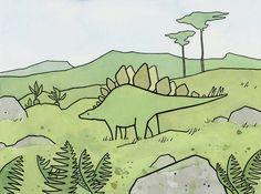 Stegosaurus illustration by studio tuesday #Dinosaur