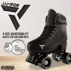 Amazon.com : Roller Derby 1378-02 Youth Boys Firestar Roller Skate, Size 2, Black/Gray : Sports & Outdoors Outdoor Roller Skates, Quad Roller Skates, Roller Derby, Roller Skating, Aesthetic Songs, Combat Boots, How To Look Better, Youth, Sport