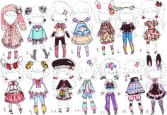 Character Drawing, Character Design, Cartoon Drawings, Art Drawings, Fashion Design Drawings, Drawing Clothes, Anime Outfits, Creepy Cute, Character Inspiration