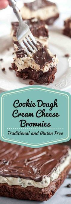 An extremely gooey, delicious brownie recipe with a creamy cookie dough topping. www.mamagourmand.com