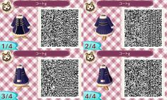 Animal Crossing QR — jk-quinn-crossing: Third dress, a recolor of the. Animal Crossing QR — jk-quinn-crossing: Third dress, a recolor of the. Animal Crossing Qr Codes Clothes, Animal Crossing Game, Bleach Captains, Flag Code, Air Max 90 Leather, Ac New Leaf, Sneaker Store, Boho Vintage, W Dresses