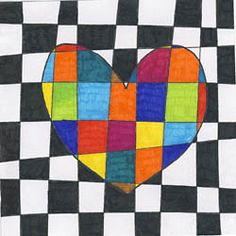 Greetings to Mother's Day - Kunst - Muttertag Projects For Kids, Diy For Kids, Art Projects, Classe D'art, Valentines Art, Art Classroom, Heart Art, Art Plastique, Op Art