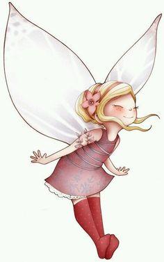 Sticker Fée with big cabello Art Mignon, Flower Fairies, Fairy Art, Magical Creatures, Cute Images, Cute Illustration, Illustrations, Cute Art, Fantasy Art