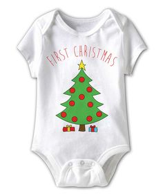 White 'First Christmas' Bodysuit - Infant | Daily deals for moms, babies and kids