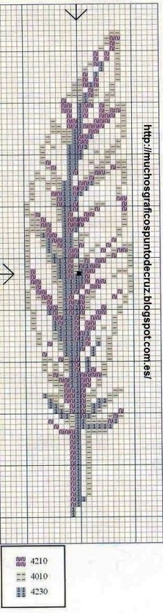 marque page plume - Cross Stitch Cross Stitch Bookmarks, Just Cross Stitch, Cross Stitch Borders, Cross Stitch Charts, Cross Stitch Designs, Cross Stitching, Cross Stitch Embroidery, Embroidery Patterns, Cross Stitch Patterns