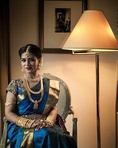 "Subra Govinda (@subragovinda) on Instagram: ""Lavanya on her wedding day #weddinginspiration #indianwedding #tamilwedding #saree #shaadi…"""