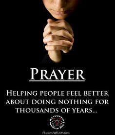 Image result for anti prayer meme