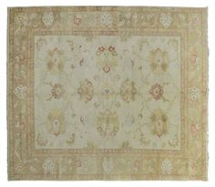 ASYA USHAK / TURKEY Item Number:24709 Width: 9 ft. 6 in. Length: 11 ft. 0 in. Field: ALL OVER PATTERN Field Color: BEIGE Border Color: BROW... (828)-687-1968 www.togarrugs.com