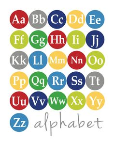 Capital and Lowercase Alphabet Poster 8x10 by YellowDeskDesigns