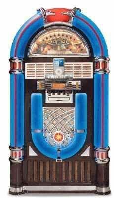 Blue Wurlitzer Jukebox