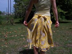 Circle Skirt From An Old Sheet