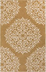Anchor your living room seating group or define space in the den with this artfully hand-tufted wool rug, showcasing a damask-inspired medallion motif for ey. Living Room Seating, Dining Room, Hand Tufted Rugs, Rug Cleaning, Joss And Main, Throw Rugs, Beige Area Rugs, Rug Size, Size 2