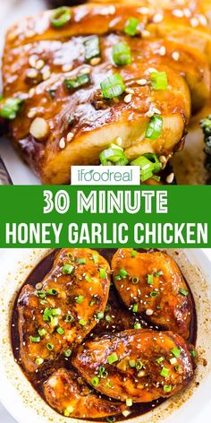How to Make Easy Honey Garlic Chicken at home! Chicken breasts or thighs are baked in the oven and then smothered in 5 Ingredient healthy honey garlic sauce. It is amazing chicken recipe to have as a backup plan for dinner! Baked Honey Garlic Chicken, Keto Chicken, Boneless Chicken, Rotisserie Chicken, Grilled Chicken, Baked Chicken With Sauce, Fresh Chicken, Chicken Garlic Sauce, Healthy Chicken Sauce
