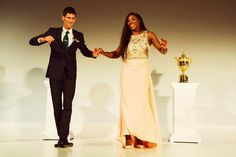 Serena Williams and Novak Djokovic | Wimbledon 2015 Champions' Dinner, The Guildhall, London  #serenawilliams #novakdjokovic #tennis #wimbledon #wimbledon2015