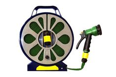 BARGAIN 50ft Flat Hose Pipe and Reel With Spray Gun for £9.98 With Free Delivery at GroupOn - Gratisfaction UK