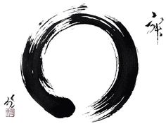 A popular expression in Zen painting, enso is a Japanese word signifying a circle. While the word has no single, fixed meaning, the expressive, brush ink circle symbolizes a moment when the mind is free enough to simply let the body create. Pintura Zen, Element Tattoo, Zen Symbol, Karma Tattoo Symbol, Change Symbol, Circle Symbol, Soul Tattoo, Zen Painting, Circle Painting