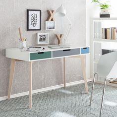 Schreibtisch Deda - Esche teilmassiv