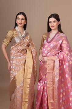 Chanderi Silk Saree, Silk Sarees, Bengali Saree, Saree Jewellery, Pattu Saree Blouse Designs, Saree Look, Beautiful Moon, Casual Saree, Saree Collection
