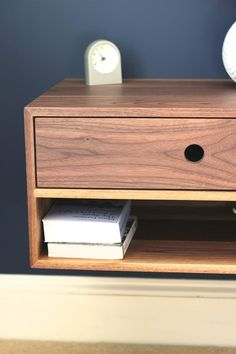 Our Floating Nightstand Is Mid Century Modern Inspired And Is Built