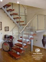 resultado de imagen para escaleras de hierro y madera rusticas