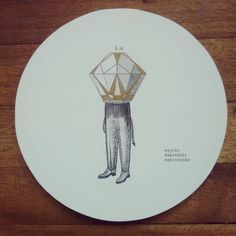 """ Sujeto susodicho entredicho "" posa calientes pieza única #Himallineishon #illustration #imagination #handmade #homedecor #diamond"