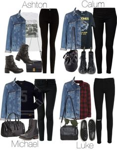 5SOS Styles: Distressed Denim Jacket by fivesecondsofinspiration featuring J Brand<<<< I like Calum's