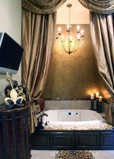 Image for feminine bathroom design ideas 10 70 Feminine Bathroom Design Ideas Feminine Bathroom, Romantic Bathrooms, Girl Bathrooms, Luxury Master Bathrooms, Dream Bathrooms, Beautiful Bathrooms, Style At Home, Casa Magnolia, Garden Tub