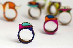 Stacking Ring Splashing Colors Creative Interpretation by WoodsyS