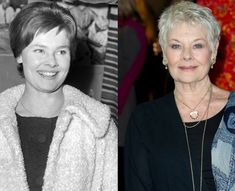 Dame Judi Dench: Then And Now  It takes a beautiful woman to pull off the cropped hair look with the same aplomb as Dame Judi Dench. The 'Skyfall' actress looks fab at 78.