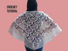Chal a crochet # 2 tejido en punto pavo real a crochet paso a paso - CHAL crocheting - YouTube