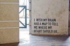 I don't like feeling lost