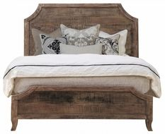 Zin Home's wooden beds, solid wood beds, reclaimed wood platform bed and wood panel bed frames are artisan crafted. Shop for rustic reclaimed wood bed frame, sleigh beds, 4 poster beds. Rustic Wood Bed, Reclaimed Wood Beds, Weathered Wood, Repurposed Wood, Recycled Wood, King Beds, Queen Beds, Home Bedroom, Bedroom Furniture