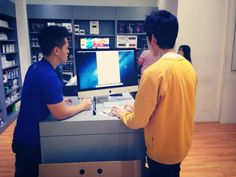 Testing out a newly purchased iMac @ Switch The Spring! Thank you!