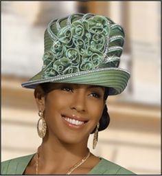 1f6c654f95e2b Ladies Special Occasion Church Hat in Sage - SALE  169.00 Stylish Hats