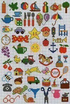 Bordados a Mano – Creatividad Manual Tiny Cross Stitch, Cross Stitch Needles, Beaded Cross Stitch, Counted Cross Stitch Patterns, Cross Stitch Designs, Cross Stitch Embroidery, Embroidery Patterns, Cross Stitch Numbers, Diy Broderie