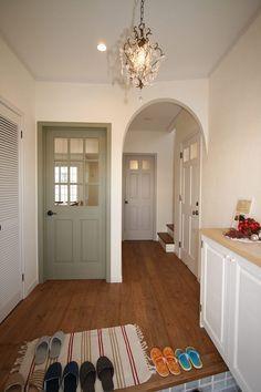 のれん Entrance Decor, House Entrance, Style At Home, Door Design, House Design, Room Interior, Interior Design, Natural Interior, Entry Hallway