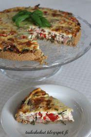 Tarun Taikakakut: Kinkkupiirakka (24cm) Savory Pastry, Starters, Quiche, Bread, Baking, Breakfast, Healthy, Foods, Drinks
